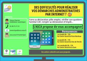 Permanences numériques dans les centres sociaux de l'ASCA