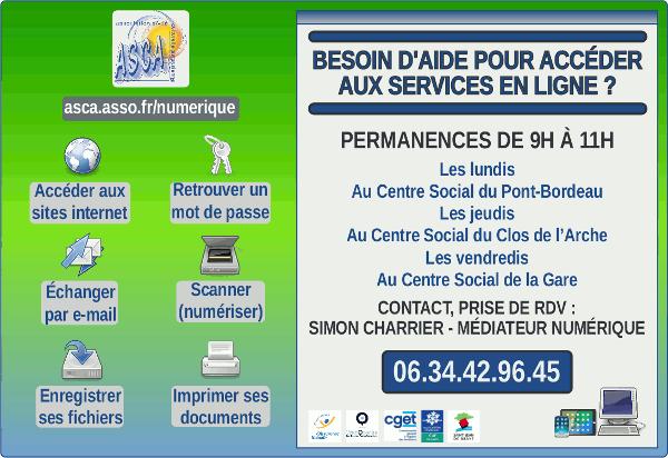 permanences d'aide à l'accès aux services en ligne