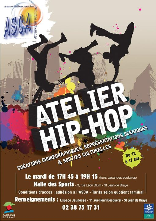 Slide de l'atelier Hip Hop de l'ASCA et OP45