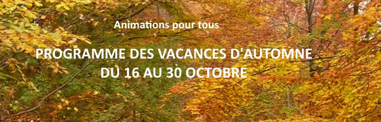 Vacances d'automne 2020 à l'ASCA