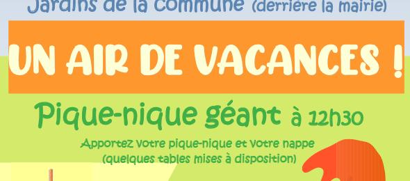 Le samedi 26 juin, dans les Jardins de la Commune « Un air de vacances » !
