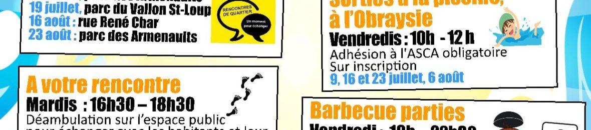 Vive l'été avec le Centre social du Pont Bordeau !
